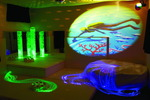 Salle multisensorielle Experia USA - incluant  colonne à bulles, fibre optique, projecteur et plus