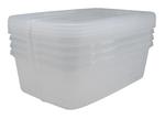 Boîtes modulaires avec couvercle IRIS® - 5,7 litres - L22,3 x P34,5 x H10,9 cm Transparent (Pqt-4)