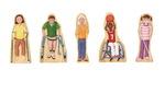 Ensemble de personnages aux besoins particuliers en bois Wedgies™ - Ensemble de 5