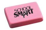 Gommes à effacer roses School Smart - Grande, rectangulaire (bte-40)