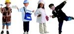Ensembles de costumes d'aides communautaires - Ensemble 1 - Ensemble de 4