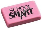 Gommes à effacer roses School Smart - Petite, rectangulaire (bte-80)