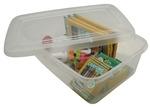 Boîtes modulaires avec couvercle IRIS® - 5,7 litres - L22,3 x P34,5 x H10,9 cm Transparent