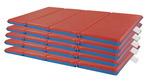 Matelas de repos ECR4Kids - Ensemble de matelas pliables (4 sections) - Épaisseur H 5,08 cm (2 po) -