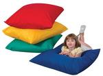 Coussins de sol The Children's Factory® Cuddle-ups® - Couleurs primaires - Un de chaque couleur ens.-4