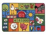 Tapis La ferme de Mathurin Carpets for Kids® KID$ Value Rugs™, 91,4 cm x 1,37 m (36 x 54 po), fibre de nylon
