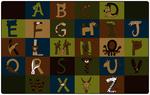 Tapis A à Z aux couleurs de la nature Carpets for Kids® - 2,29 x 3,66 m Rectangulaire
