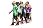 Bandes pour la marche en groupe de Sportime®, ens.-2