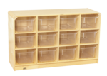 Casier mobile Korners for Kids® de 12 compartiments pour tout-petits avec bacs transparents