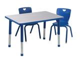 Table pour activités Classroom Select® Appolo® avec bordure moulée en T - 61 cm x 122 cm (Rectangle)