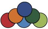 Jeux de tapis à déplacer Carpets For Kids® - Ronds - Ensemble de 24 - Diamètre de 40,64 cm (16 po)