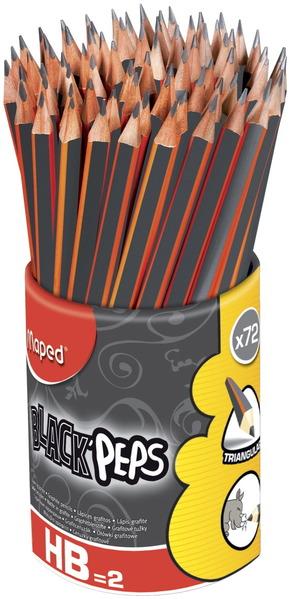 Crayons Maped® triangulaires - N° 2 pré-taillés - Paquet de 72 Image