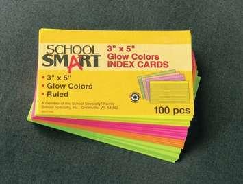 Fiches de couleur lignées - Jaune canari - 7,62 x 12,7cm Image