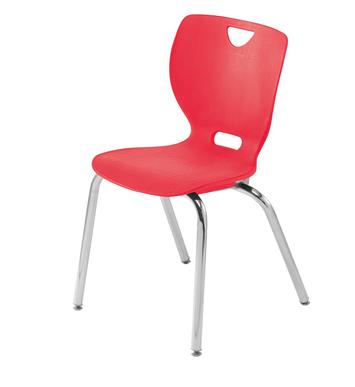 Chaise à quatre pieds à dossier souple Classroom Select™ NeoClass™ - 40,6 cm - Chrome Image