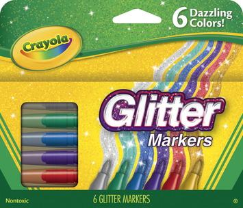 Feutres pailletés Crayola® - Ens. de 6 Image