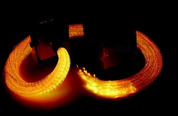 Faisceaux de fibre optique DEL Iris avec Qube versicolore Image