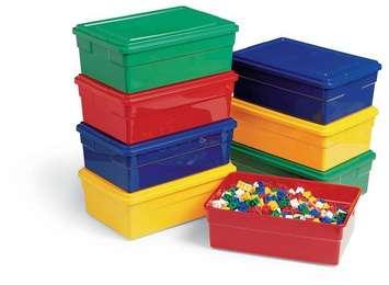 Bacs colorés avec couvercles Childcraft - Bac et couvercle jaunes Image