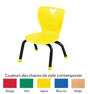 Chaises de style contemporain Classroom Select® avec pieds boules - Couleur du siège - (Votre choix) Couleur de l'armature (Noire) - H 25,4 cm Image