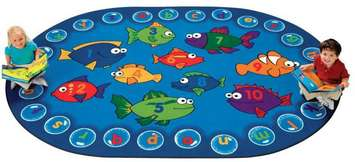 Tapis Aquarium éducatif - 2,1 m x 2,9 m (Ovale) Image