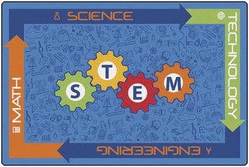 Tapis d'enfants KID$ Value PLUS™ - STEM 243,84 x 365,76 cm Image