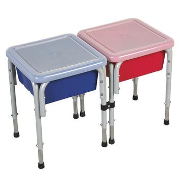 Tables de jeux d'eau et de sable ECR4Kids - Table carrée formée de 2 postes - l 37,5 x P 76,2 x H 50 Image