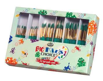 Assortiment de classe de pinceaux Big Kid's Choice Royal - ronds, ens. de 72 Image