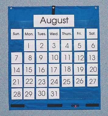Murale à pochettes calendrier mensuel School Smart Image