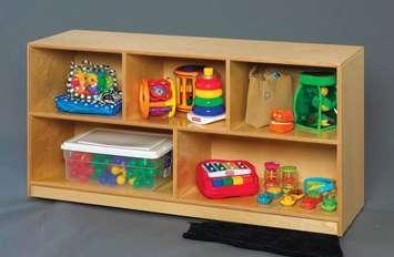 Étagère mobile munie de tablettes pour jouets et blocs Childcraft - L1,2m x P33cm x H62,2cm Image