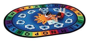 Apprendre et Jouer Jour ensoleillé - Ovale (8 pi 3 po x 11 pi 8 po) Image