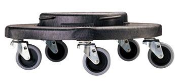 Socle roulant universel Rubbermaid® pour récipient à déchets Brute®, noir Image