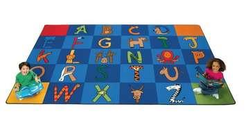 Tapis et carpettes Les animaux de A à Z - 2,3 m x 3,7 m (Rectangulaire) Image