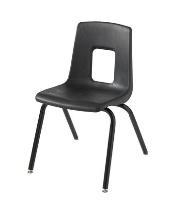 Chaise traditionnelle à quatre pieds Classroom Select® - 29,2 cm - Noire Image