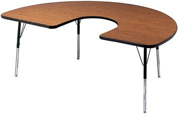 Tables pour activités Classroom Select - 122 cm x 183 cm Fer à cheval Image