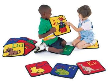 Tapis Blocs amusants de Carpets for Kids - Carpettes Alphabet, (ens. de 26) Image