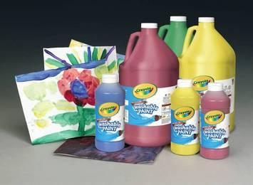 Peinture lavable Crayola® - 6 chopines de 473 ml chacune Image