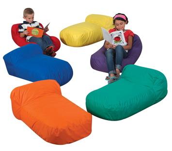 Coussins de sol Haricot The Children's Factory® Cuddle-ups® - Assortiment de couleurs (ens.-6) Image