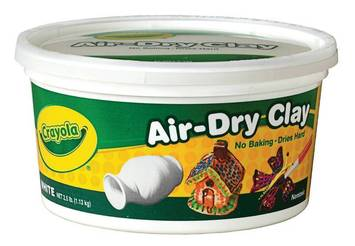 Pâte séchant à l'air Crayola® - Blanche -  2,27 kg Image