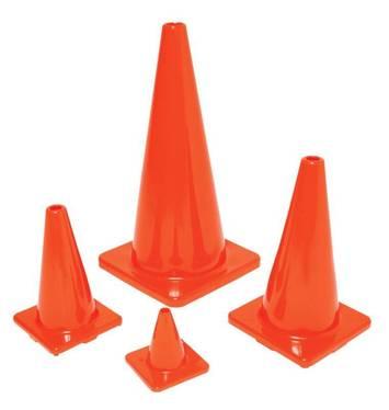 Cônes classiques de couleur orange - H 15,2cm Image