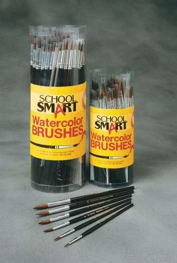 Pinceaux aquarelle School Smart en poils de chameau, manche court – ens. de classe Image
