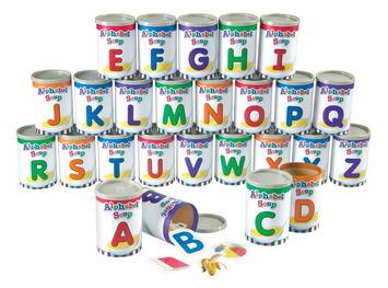 Trieur de boîtes de soupe alphabétique Image