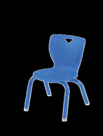 Chaises de style contemporain Classroom Select® avec pieds - (Votre choix) - Couleur du siège - (Votre choix) Couleur de l'armature (Assortie) - H 30,5 cm Image