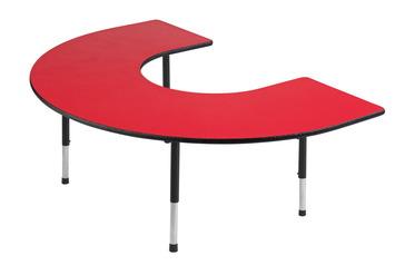 Tables pour activités Classroom Select® Apollo® avec bordure LockEgde - 122 cm x 183 cm (Fer à cheval) Image