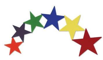 Étoiles en vinyle - ens. de 6 Image