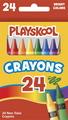Crayons de cire Playskool® - Taille régulière - Assortiment - Ensemble de 24