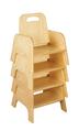 Chaises empilables pour tout-petits Bird-In-Hand® - Hauteur du siège 12,7 cm