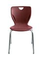 Chaises de style contemporain Classroom Select® avec pieds - (Votre choix) - Couleur du siège - (Votre choix) Couleur de l'armature (Chrome) - H 40,6 cm