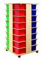 Tour mobile à 32 casiers Bird-In-Hand® - avec bacs de couleur