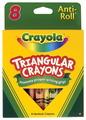 Crayons triangulaires Anti-Roll® Crayola® - Ensemble de 8 couleurs - Famille de 8