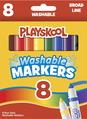 Marqueurs lavables Playskool - Pointe épaisse - Assortiment - Ensemble de 8