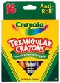 Crayons triangulaires Anti-Roll® Crayola® - Ensemble de 16 couleurs - Ensemble de 16